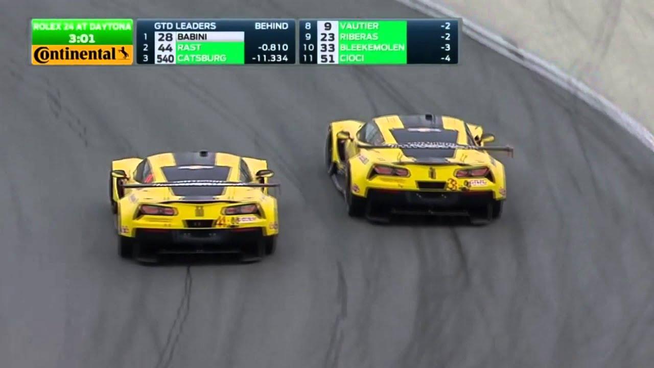 2016 Rolex 24 Hour Finish   GTLM Corvette vs. Corvette Battle - YouTube