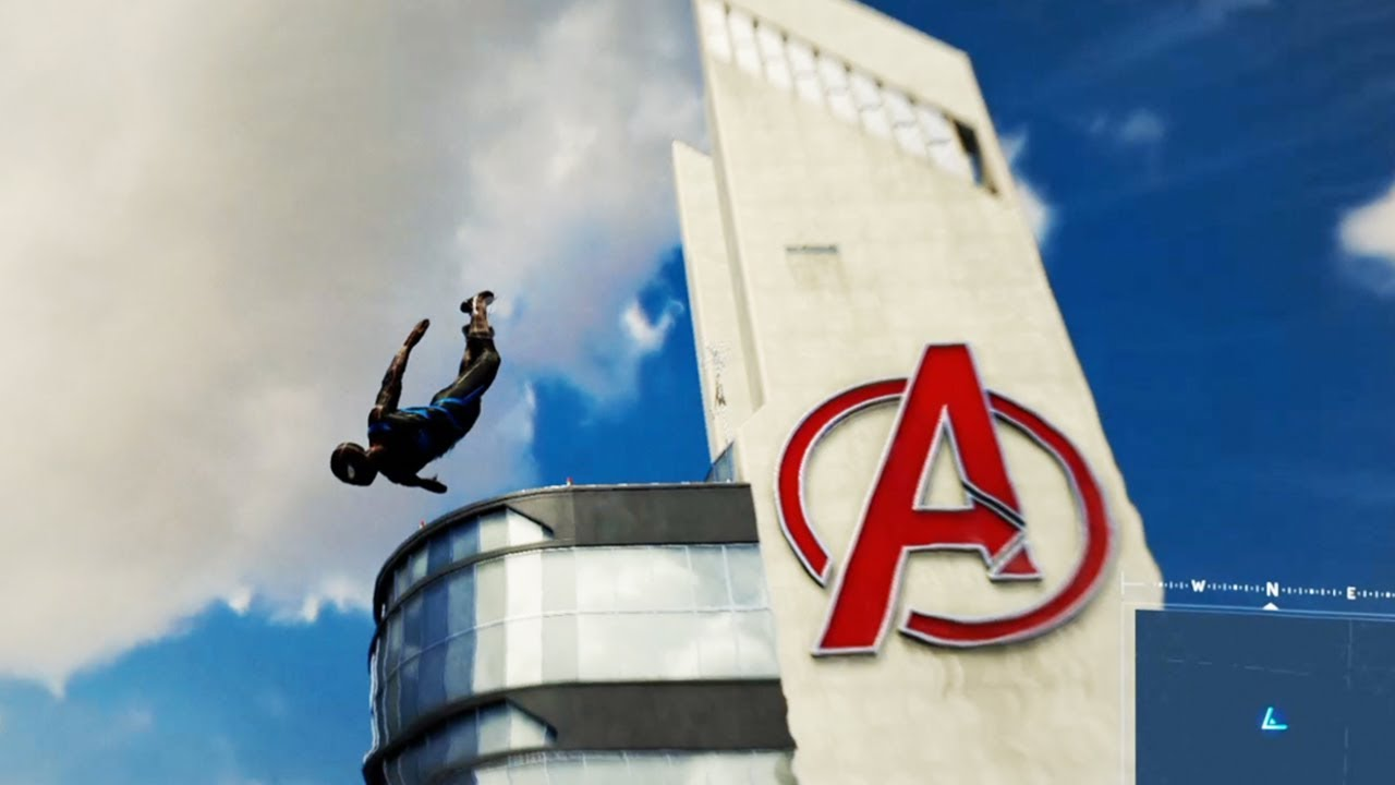 finding the avengers tower in spider man ps4 youtube