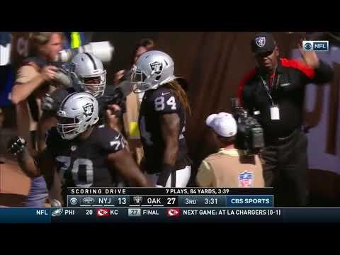 Cordarrelle Patterson 43 Yard TD Run Raiders vs. Jets 9/17/17 Week 2