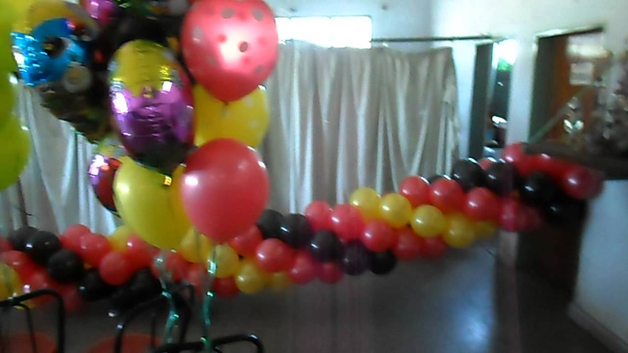 decoracion con globos angry birds por graciela noemi sanabria eventos youtube