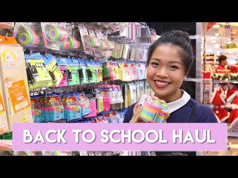 Shopping for School Supplies (Muji, Daiso, Japan Home) + GIVEAWAY! | PrettySmart