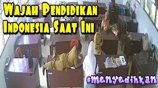 BEGINILAH PENAMPAKAN WAJAH PENDIDIKAN INDONESIA SAAT INI, KELAKUAN OKNUM GURU YANG TEREKAM CCTV