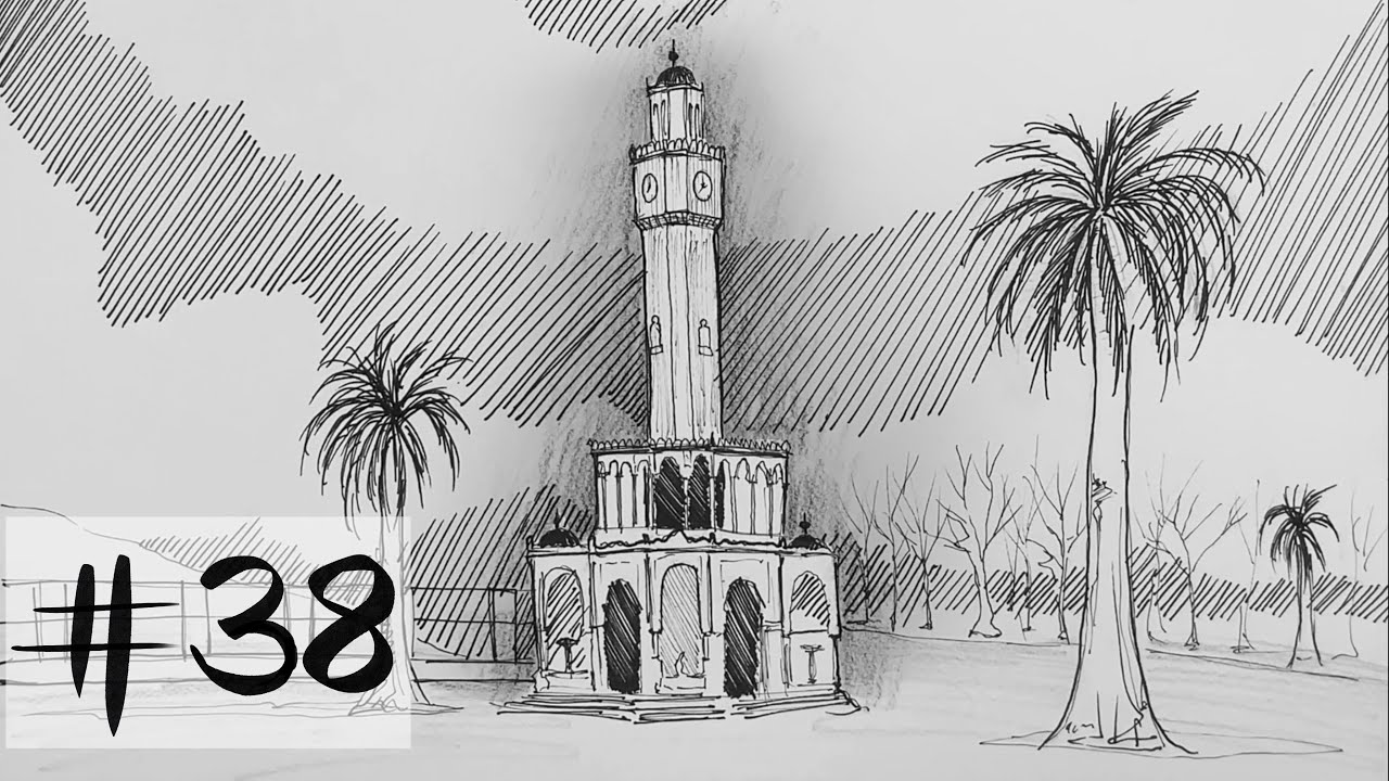 Mekan Nasıl Çizilir? - İzmir Saat Kulesi #38
