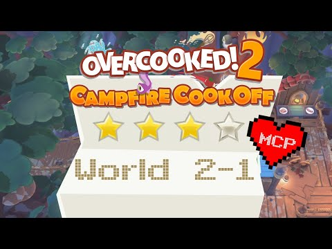 Married Couple Plays... Overcooked! 2 - Campfire Cook Off World 2 Level 1. 4 Stars. |