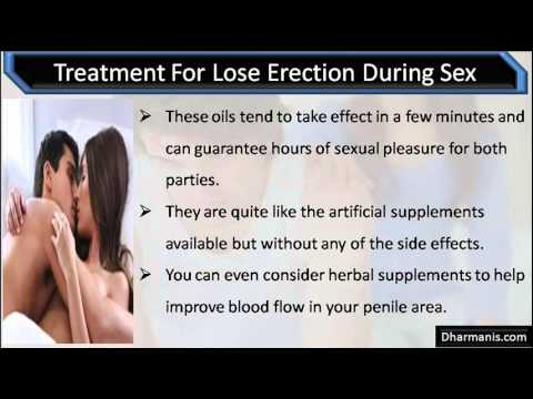 loss of erection during oral sex