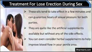 Lose erection during intercourse