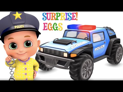 New Police Siren car with Assembling video - toys for kids | Jugnu Kids