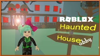 It's ALL Creepy! Roblox New The Haunted House Obby, SallyGreenGamer Geegee92 kid friendly Halloween
