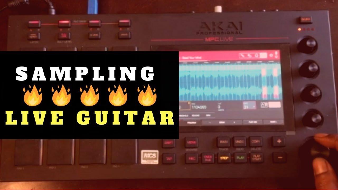 Sampling Live Guitar | MPC Live Beat Making | Chopping Block