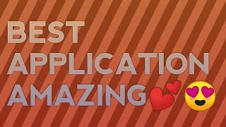 Very usefull application for your daily life