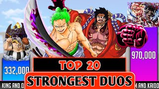 Top 20 Strongest Duos in one piece   One piece strongest duos ranked - SP Senpai