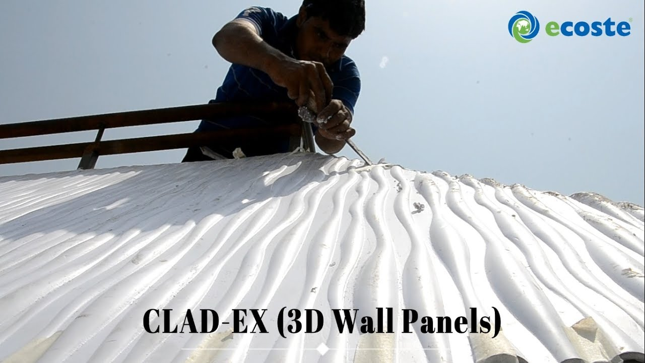 3D PVC Roofing Sheets - ECOSTE 3D Wall Panels   PVC Wall Panels