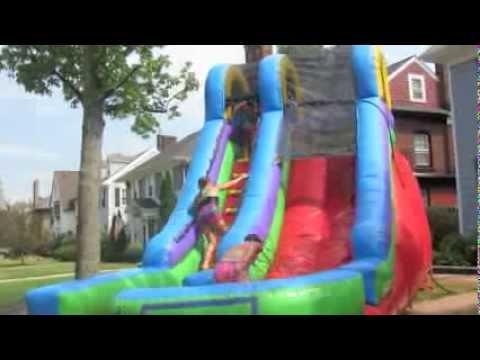 15 Foot Splash Slide Youtube