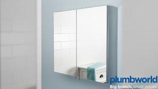 Cavalier Stainless Steel Bathroom Cabinet & Mirrored Doors - Plumbworld