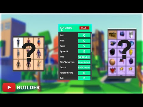 Builder's - SETTINGS, LOADOUT And SKINS! *NEW*