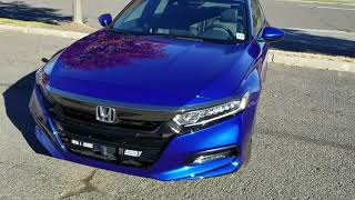 2018-2019 Honda Accord Sport. How to Adjust Fog Light Height