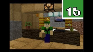 How to Build A Hotel - the Front Desk I dreamed Part 9 - PES Minecraft Gameplay Walkthrough Part 16