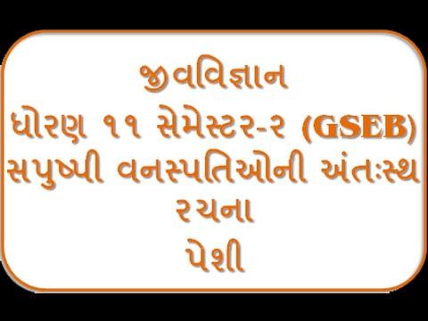 Peshi I 11th Biology Semester-2 By Jolly Joshipura Gseb