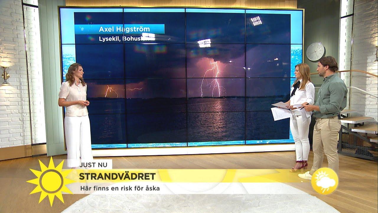 """Ökad åskrisk längs västkusten: """"Otroligt mycket åska igår""""  - Nyhetsmorgon (TV4)"""