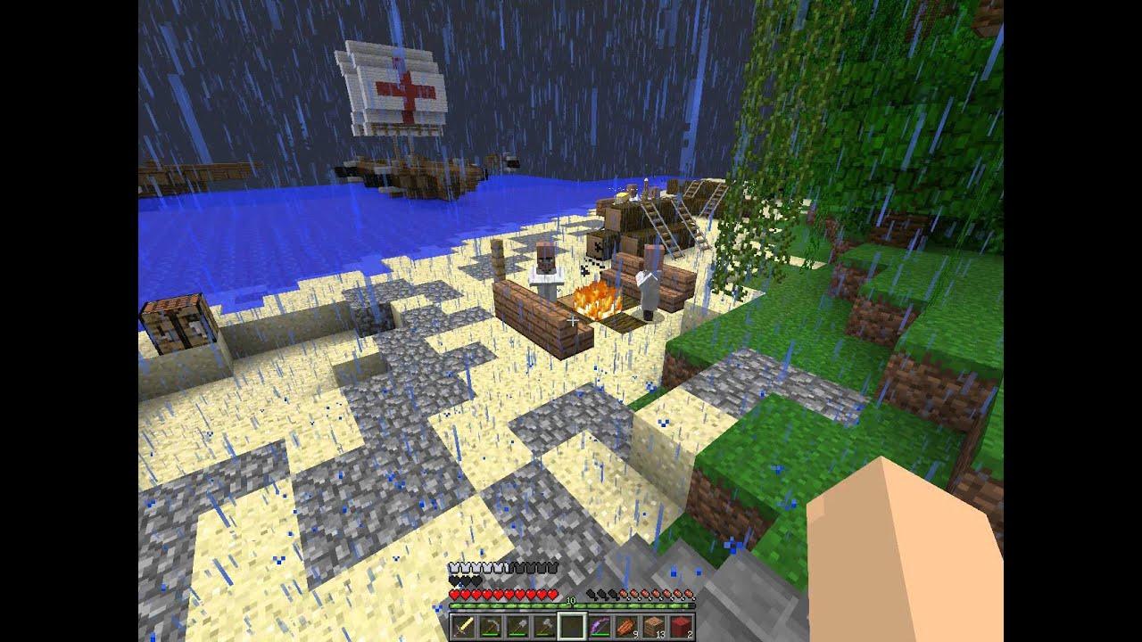 【死亡X星玥】Minecraft實況-渡假小島生存EP4-好多硬硬的怪阿