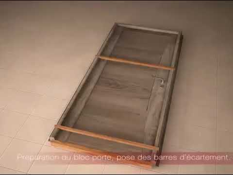 comment installer une porte d 39 int rieur en pose fin de chantier youtube. Black Bedroom Furniture Sets. Home Design Ideas