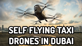 Worlds first passenger drone, self-flying taxi drones in dubai. #taxidrone
