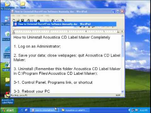 How To Uninstall Acoustica Cd Label Maker - Youtube