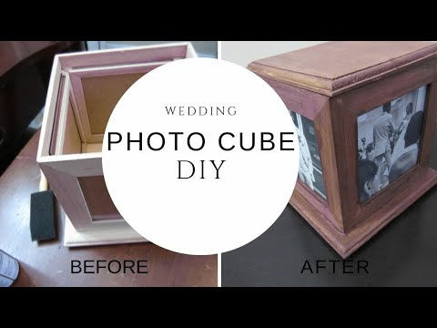 DIY PHOTO CUBE~ BEFORE & AFTER