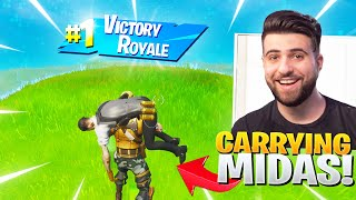 What Happens When You Carry Midas The Whole Game! (Fortnite Battle Royale)