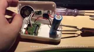 Переделка беспроводного дверного звонка на питание от li Ion 3.7 v аккамулятора