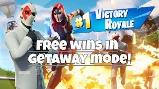 FREE WINS IN GETAWAY MODE??? (Fortnite Funny Moments & Fails)