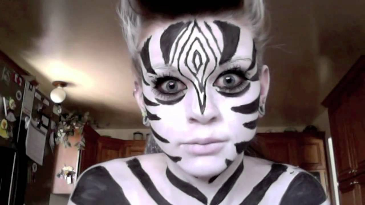 Schminkvorlage Zebra How To Do Zebra Make Up