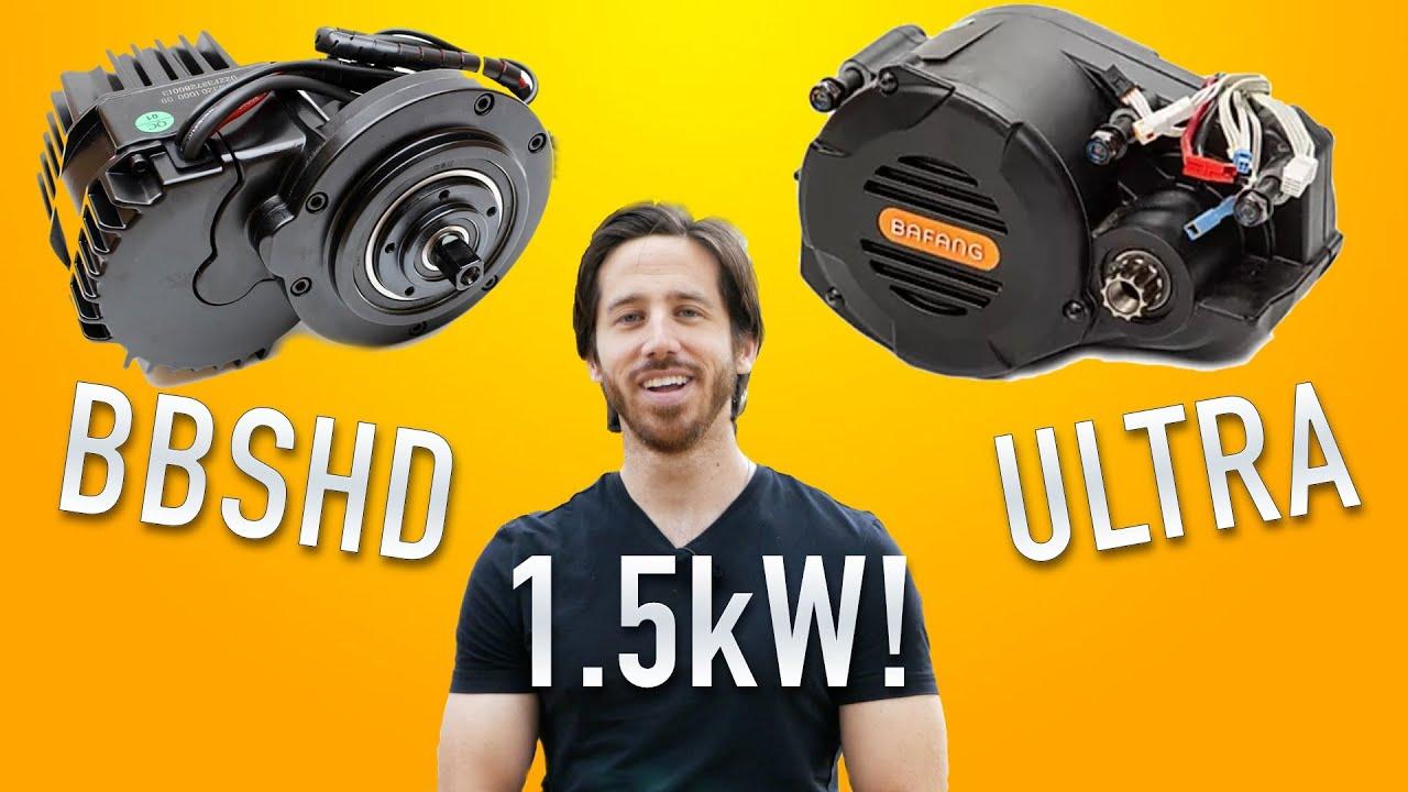 1,500W e-bike mid-motors: BBSHD & Bafang ULTRA