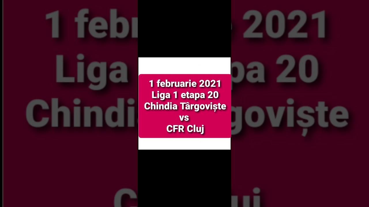 rezultat Chindia CFR Cluj 1 februarie 2021