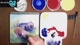 "03 ""Three Wombats"" Original Watercolour Painting by Jacqueline Hill - Timelapse"