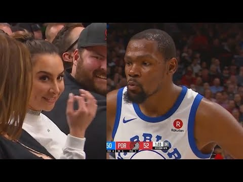 Kevin Durant Blows Kiss at a Girl Sitting Courtside & Shoots His Shot!