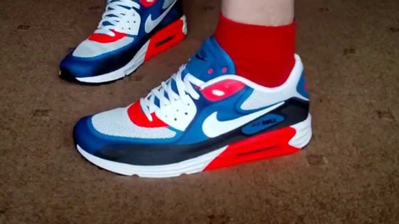 half off 3f998 641aa Nike Air Max 90 Lunar Comfort 3.0 (white, blue, red) - YouTube