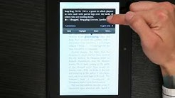 How to Look Up a Word While Reading a Kindle : Kindle 4