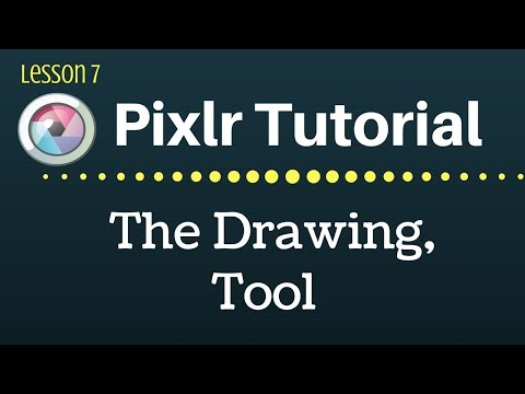 Pixlr Tutorial The Drawing Tool Lesson 7 Youtube