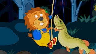Lion Family 🦁 Gold Fish 👪 Cartoon for Kids