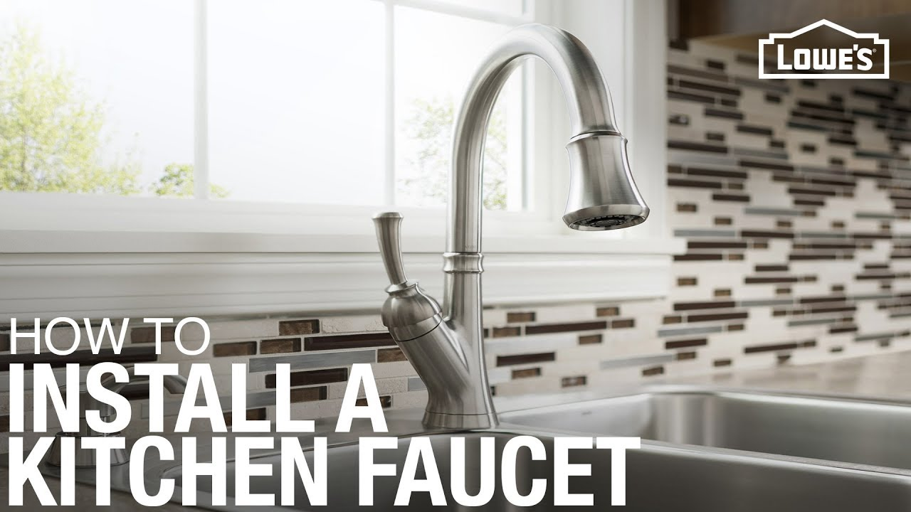 How To Replace A Kitchen Faucet YouTube - Replacing kitchen sink faucet