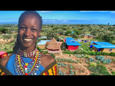 Masai Woman Builds Beautiful Off-Grid Homestead in the African Bush
