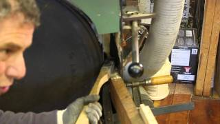 Northford Timber Framers:  Crowning A Band Saw Tire