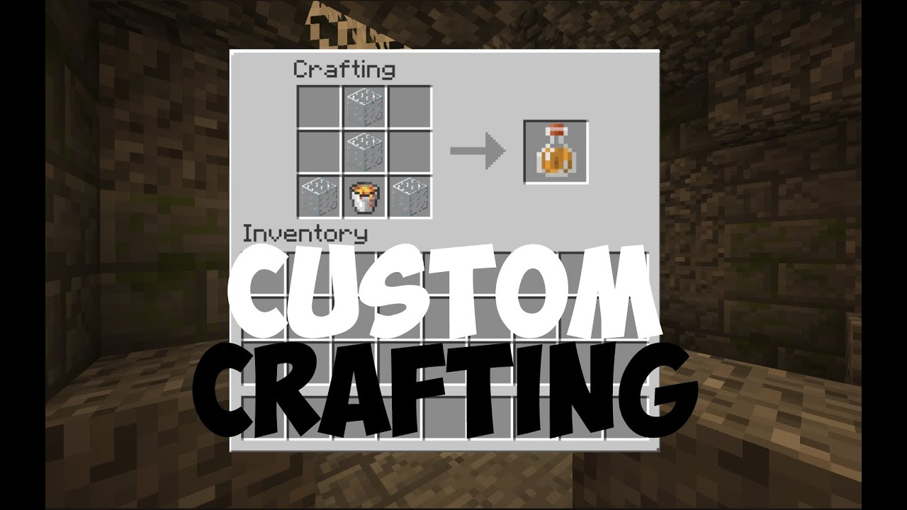 How To Make Custom Crafting Recipes In Vanilla Minecraft