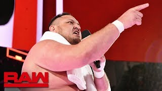 Samoa Joe confronts Roman Reigns: Raw, April 16, 2018
