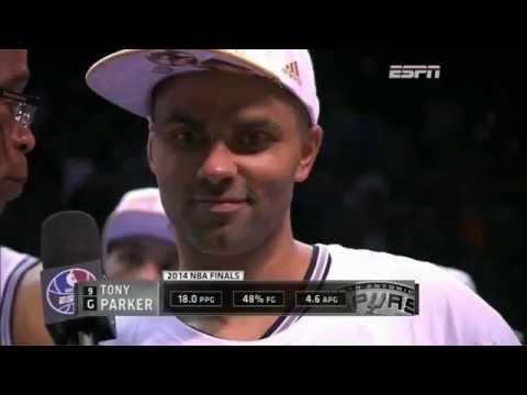 Spurs win 2014 NBA Championship (Trophy celebration)