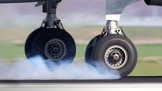 Почему покрышки НЕ взрываются при посадке самолета?