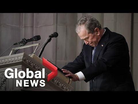 Bush funeral: George W. Bush tearfully calls his father the best you could have