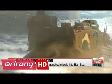 ARIRANG NEWS BREAK 15:00  N. Korea fires submarine-launched ballistic missile into East Sea