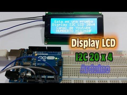 Display LCD I2C 20 x 4 - Conexiones y Programacion con Arduino